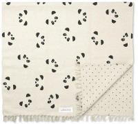 Gulvtæppe fra Liewood - Ingrid - Vendbart - Panda (90x180)