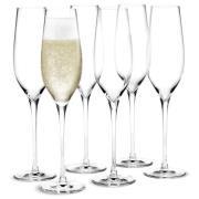 Holmegaard champagneglas - Cabernet - 6 stk.