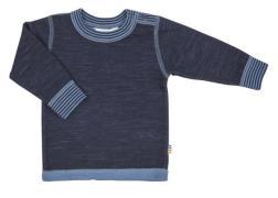 Uld trøje fra Joha - Marine melange m. blå