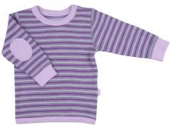Trøje i uld / bomuld fra Joha - 3 Stripe - Rosa