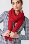 NA-KD Accessories Woven Scarf - Red