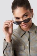 NA-KD Accessories Metal Cateye Sunglasses - Black