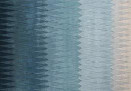 Akacietræ Uldtæppe Blå 200x300 cm