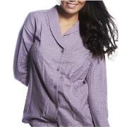 Calvin Klein Pyjamas Shirt Gwendolyn Check Lilac * Gratis Fragt * * Ka...