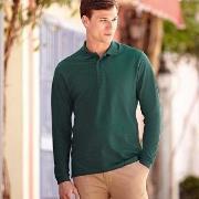 Fruit of the Loom Premium Long Sleeve Polo * Gratis Fragt *