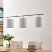 Lindby Zalia stof-hængelampe, 3 lyskilder