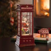 LED dekolampe Telefonboks med julemand
