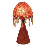 Bordlampe Perla 30 cm orange