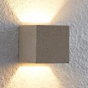 Lindby Quaso LED-væglampe, beton, beige granit