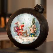 LED kugle Julemand med børn, med vand