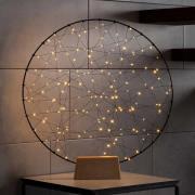 Ring indendørs LED-dekorationslampe, metalsilhuet