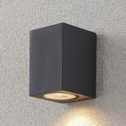 Udendørsvægspot Lavina, mørkegrå, GU10, 1 lys
