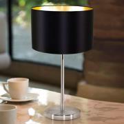 Enkelt stof bordlampe Lecio