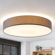 Stof-loftlampe Gordana i grå, 98 cm