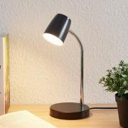 Lindby Jegor LED-bordlampe i sort
