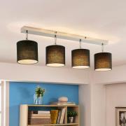 Loftslampe Mairi med sorte skærme og LED