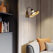 Landlig væglampe Louisanne i rustbrun