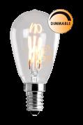 Pære LED Soft Filament Dæmpbar Klar