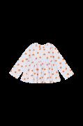 Mønstret bluse med langt ærme