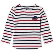 Tommy Hilfiger White, Red and Navy Long Sleeve Tee 4 years