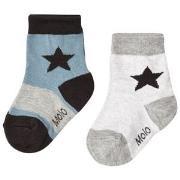 Molo Nitis 2-Pack Socks Light Grey Melange 17-19 (6-9 mdr)