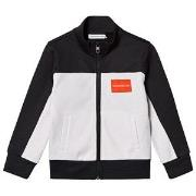 Calvin Klein Jeans Black and White Color Block Track Jacket 4 years