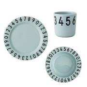 Design Letters Melamine The Numbers Tableware Gift Set 3 Pieces Green ...