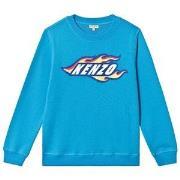 Kenzo Blue Kenzo Fire Print Sweatshirt 2 years