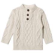 GAP Kabelstrikket Sweater Oatmeal Heather 18-24 mdr