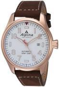 Alpina Startimer Herreur AL-525S4S4 Hvid/Læder Ø44 mm