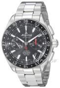 Alpina Alpiner Herreur AL-860B5AQ6B Sort/Stål Ø44 mm