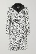 Miu Miu - Crystal-embellished Animal-print Faux Fur Coat - Ivory