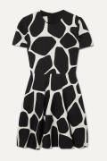 Valentino - Printed Wool And Silk-blend Crepe Mini Dress - Ivory