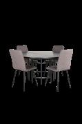 Spisegruppe Copenhagen med 4 spisebordsstole Windu Lyx