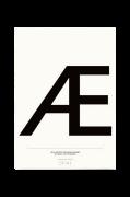 Poster Æ, 50x70 cm