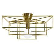 Globen Lighting-Cube Ceiling, Brass
