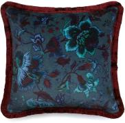 House of Hackney-Majorelle Cushion with Fringes Large, Petrol