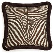 House of Hackney-Equus Cushion with Fringes Medium, Cocoa