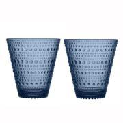Kastehelmi glas 30 cl 2 stk regn (blå)